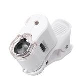 Mini microscopio LED UV del microscopio delle luci del telefono d'ingrandimento 60X che illumina i giocattoli di scienza
