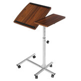 Douxlife DL-RT01 Laptop Schreibtisch Rolltisch Höhe Höhenverstellbar Tiliting MDF Stahlrahmen für Home Office