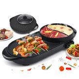 220 V-os elektromos többfőzős tűzhely 2-IN-1 főzőlapos grillezősütő füstmentes, tapadásmentes grill grillezős sütőlemez