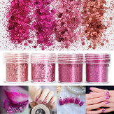 Super Shining Mixed Glitter Powder Sequins Nagel Decofatie Stof Rose Red Mermaid Effect Manicure Orn