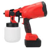 21V 1300mAh краскопульты Craft Painting Инструмент Spray Model Краскопульт Электрический распылитель краски W / 1/2 Батарея