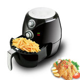 2.8L Black Oilless Electric Air Fryer Low Fat Detachable Basket Baking Kitchen