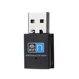 300M Wireless USB2.0 Adattatore WiFi Dongle Network LAN Card 2.4G 802.11n Wifi ricevitore Trasmettitore