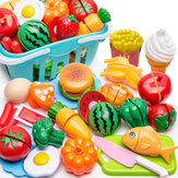 17/24/25/61PCS Kid Pretend Role Play Toys Kitchen Fruit Cake Food Child Cutting Vegetable Player Set