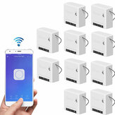 10pcs SONOFF Mini Two Way Smart Switch 10A AC100-240V Works with Amazon Alexa Google Home Assistant Nest Supports DIY Mode Allows to Flash the Firmware
