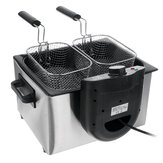SOKANY Commercial Electric Fryer 220-240V 2100W Deep French Fries Chicken Grill for Kitchen
