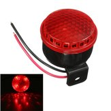 12V 125db Brake Stop Reverse Turn Alarm Horn With Red LED Light For Motorcycle Car Truck