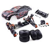 ZDレーシング9021-V31/8110km/h4WDブラシレスドラッグフレームDIY Rcカーキットなし電子部品なし