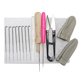 15pcs Kit Outils en feutrine en laine Needle Felting Starter Kit Mat Scissors Needle