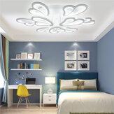 Lâmpada de teto moderna AC 110-220V 9 cabeças + luz de estudo de quarto de sala de estar com controle remoto
