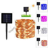 8 trybów 10 / 20m 100/200 LED Solar Power Fairy Lights String Lamps Party Wedding Decor Garden