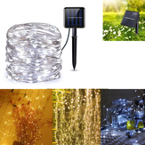 Solar Powered 8 Modes Sliver Wire 200 LED Christmas Tree Fairy String Wedding Home Party Light DC2V