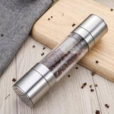 2 in 1 Premium Stainless Steel Glass Salt & Pepper Mill Grinder Kitchen Accessories