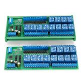 N4D8C12 Isolation 12V / 24V RS485 Relais Modbus RTU Protocole DIN35 Rail Shell PLC Facultatif