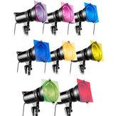 8 in 1 12 Inch 8-Color Gel Lighting Filter For Strobe Light Photography Flash Studio Kit
