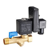 LAIZE AC220V Electronic Automatic Timed Water Tank Direct-acting Drain Valve 20mm DN15 Thread Connecting