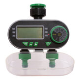 Aqualin Two Outlet Automatic Watering Timer Garden Digital Electronic Water Timer Solenoid Valve Irrigation Controller