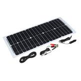 Eletricidade home Semi-flexível do silicone Monocrystalline do painel de energia solar de 30W 12V