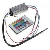 Fuente de alimentación del conductor de la luz Lámpara del microprocesador de 20W RGB LED Impermeable IP66 con Control remoto