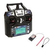 FlySky FS-i6 2.4G 6CH AFHDS Controle Remoto Transmissor Com FS-R6B Receptor Para RC FPV Drone - Modo 2