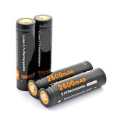 2Pcs Soshine 18650P 2600mah 3.7v 18650 Li-ion Lithium Battery With Protected PCB + Battery Case