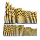 99 pcs 1.5mm-10mm Torção Broca Bit Set Titanium revestimento HSS Torção Broca Bits