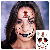 Halloween Tattoo Stickers Scary Halloween Temporary Face Tattoos Terror Wall Sticker Halloween Festival Descoration