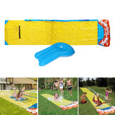 488x71cm Inflatable Water Slide Large Double Racer Pool Kids Water Play Racer with Slide Board Surfing Summer Outdoor Garden Game Gift