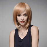 Elegan Rambut Manusia Wig Sisi Bang Gelombang Virgin Remy Mono Top Tanpa Capless 32cm