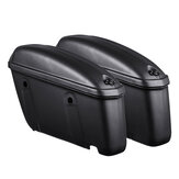 22L Pair Universal  Motorcycle Hard Trunk Saddlebags Saddle Bags Side Box Rear