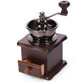 دليل طاحونة القهوة الفول طاحونة خشبية الرجعية تصميم مطحنة صانع الرجعية
