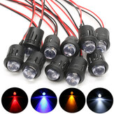 10st 12V 10mm Ultra Bright Voorbedrade Constante LEDs Water Clear LED