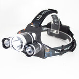 XANES® 3 LEDs T6+2*Q5 LED Headlamp 4 Modes Cycling Headlight Outdoor Lantern Light USB Rechargeable Flashlight For Hunting Fishing
