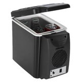 6L 12V 37W Cooling Heat Temperature 5℃ To 65℃ Mini Hot And Cold Black Car Refrigerator