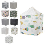 Large Folding Laundry Basket With Lid Toy Storage Baskets Bin For Kids Dog Toys Clothes Organizer