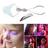 LED Eyelashes Eyelid False Eyelashes Unisex LED Light Eye Lash For Fashion Icon Saloon Pub Club Bar Party Fast Ship