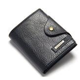 Модный повседневный большой емкости со слотами для карт, мужской кожаный мужской короткий кошелек для телефона из искусственной кожи, Сум
