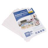 100Pcs T-shirt Printing Ironing Hot Stamping Machine Lamp/Dark Transfer Paper