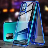 Bakeey для Xiaomi Mi 10 Lite Чехол 2 в 1 с защитой Объектив Магнитный флип двухстороннее закаленное стекло Металл Полное покрытие Защитный Чехол Неори