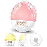 WIFI Sunrise Alarm Clock Light FM Radio Smart Wake Up LED Sunrise Light Tuya APP Control Work with Alexa/Google 7 Colors Sunrise Simulation