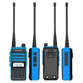 BAOFENG X3-Plus 18W 9500mAh talkie-walkie 20 KM radio tri-bande étanche UHF / VHF 9500mah émetteur radio 76-108MHz bleu avec lampe de poche