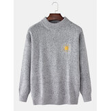 Mens Weather Symbol Graphics Long Sleeve Knitting Sweater