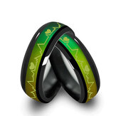 Black Emotional Change Color Temperature Ring Heartbeat Show Ring