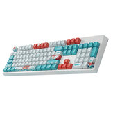 104 Keys Coral Sea Keycap Set OEM Profile PBT Dye-Sublimation Suspension Keycaps for 87/104 Keys Mechanical Keyboards