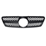 Glossy Black Front Grille Grill AMG Style For Mercedes Benz C-Class W203 S203 C280 C320 C240 C200 2001-2007