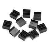 10Pcs TO-220 Aluminum Triode Heat Sink 25x23.5x15.8mm Aluminum Radiator