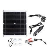 18V 50W PV solare Kit caricatore da pannello Monocristallino solare Pannelli con cavo adattatore 10 in 1