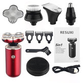 5 in 1 Multifunctional Men Electric Shaver Rotary Bald Head Shaver Beard Nose Hair Trimmer