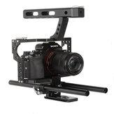 VELEDGE VD-07 Portable Aluminium Kamera Käfig Rig Stabilisator Top Griff Griff für DSLR Kamera DV für Sony A7 A7r A7s II A6300 A6000 für Panasonic GH4