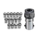 15pcsER111-7mmPrimaveraChuck Collet com ER11A 5mm Extensão Haste Titular para Fresagem CNC Torno Ferramenta